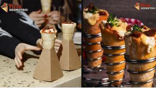 Конусная пицца со скидкой 50% от Geometric pizza в ТЦ «Капитолий» на Марьиной роще! Попробуй новинку!